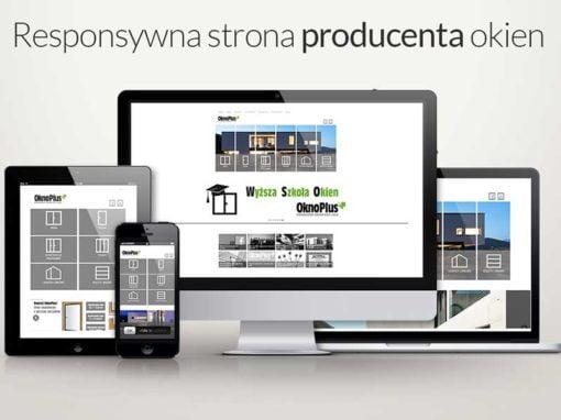 Nowoczesna strona internetowa dla producenta okien
