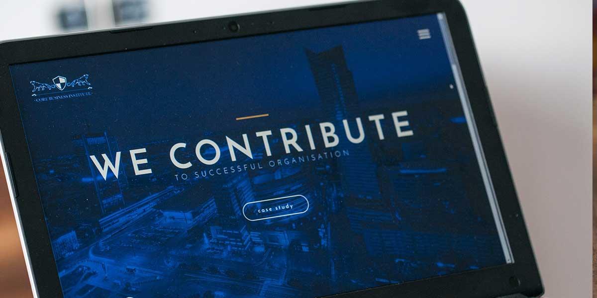 Strona internetowa firmy szkoleniowej