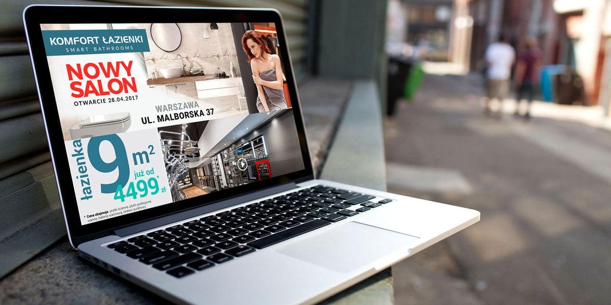 Strona www dla producenta łazienek. Tworzenie stron internetowych Kielce