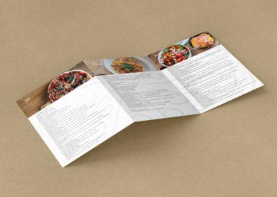 Projekt graficzny ulotek dla restauracji