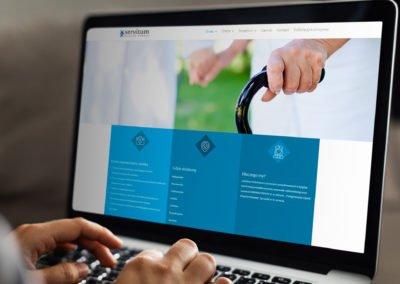 Strona internetowa dla opieki dla starszych